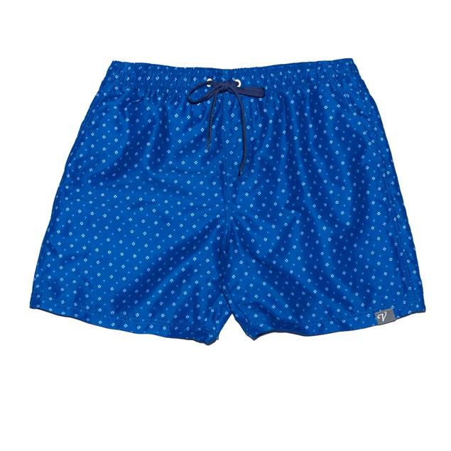 Blue Triangle Print Board Shorts