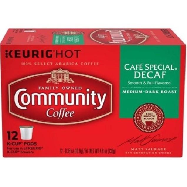 Community Coffee Cafe Special Decaf Coffee Keurig K Cup