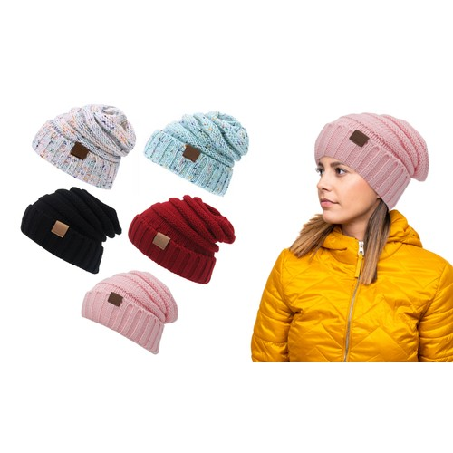 Winter Trendy Warm Knitted Casual Fun Beanie Hat For Women