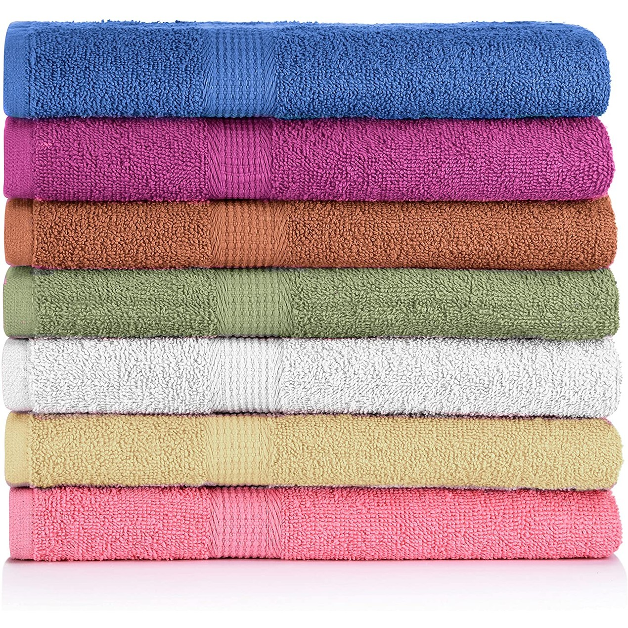7-Pack CrystalTowels 27'' X 52'' 100% Cotton Extra- Absorbent Bath Towels