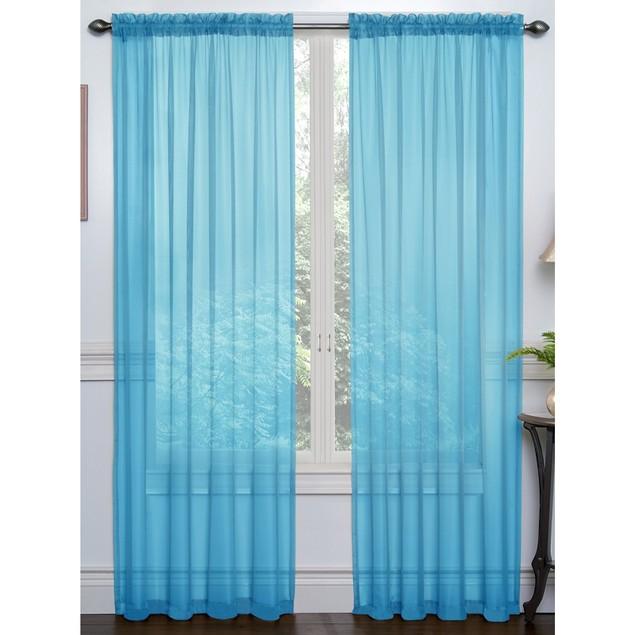 4-Pack Premium Sheer Voile Curtain Window Panels