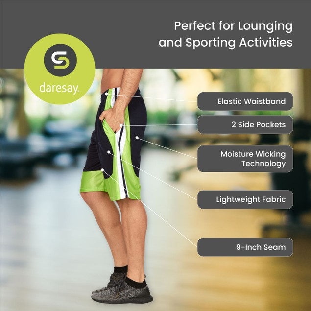 5-Pack Mens Workout Active Performance Athletic Shorts with Pockets (S-3X)