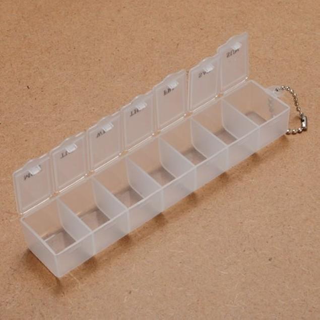 Pill Cutter + 7 Day Monday Through Sunday Pill Box Essential Organizer