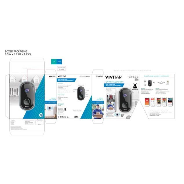Vivitar High Definition Wifi Video Doorbell w/ Two Way Audio