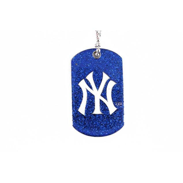 MLB Sports Team Logo Dog Fan Tag Glitter Necklace