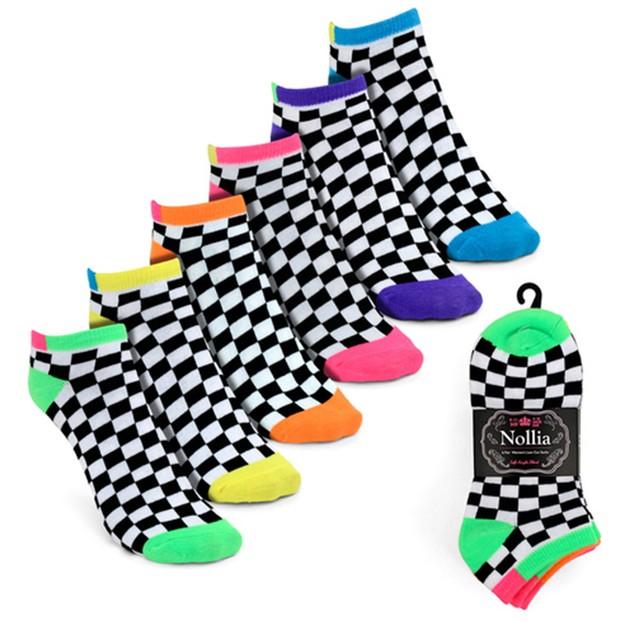 24-Pairs Women's Multicolor Low Cut Socks