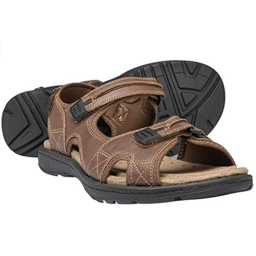 Brown Oak Mens Casual Memory Foam Comfort Anti Slip Durable River Sandals