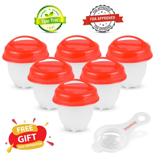 6-Pack BriteNway Silicone Egg Cooker