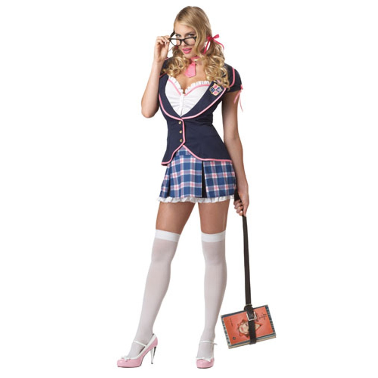School Girl Halloween Costume College.Womens Sexy College Girl Adult Halloween Costume Tanga