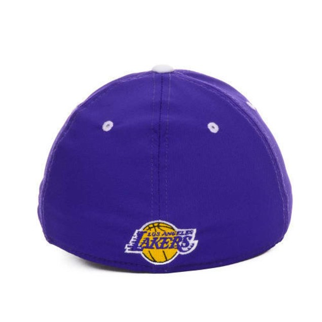 "Los Angeles Lakers NBA Adidas ""Team Practice"" Stretch Fitted Hat"