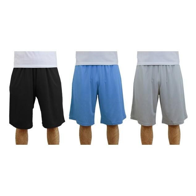 3-Pack Men's Moisture Wicking Active Mesh Shorts