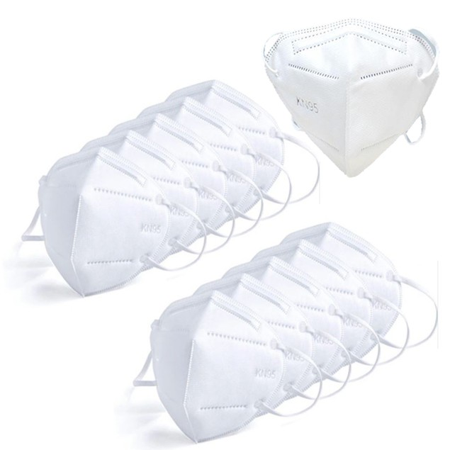 30-Pack: KN95 Masks w/ Multi Layer Breathable Fabric And Elastic Ear Loops