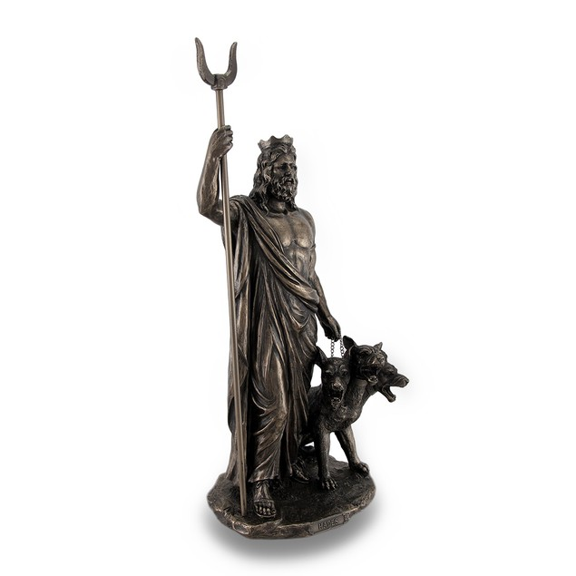 Greek God Of The Underworld Hades Bronze Finished Statues