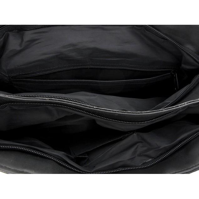 Black Leather Shoulder Bag Tote Womens Top Handle Handbags