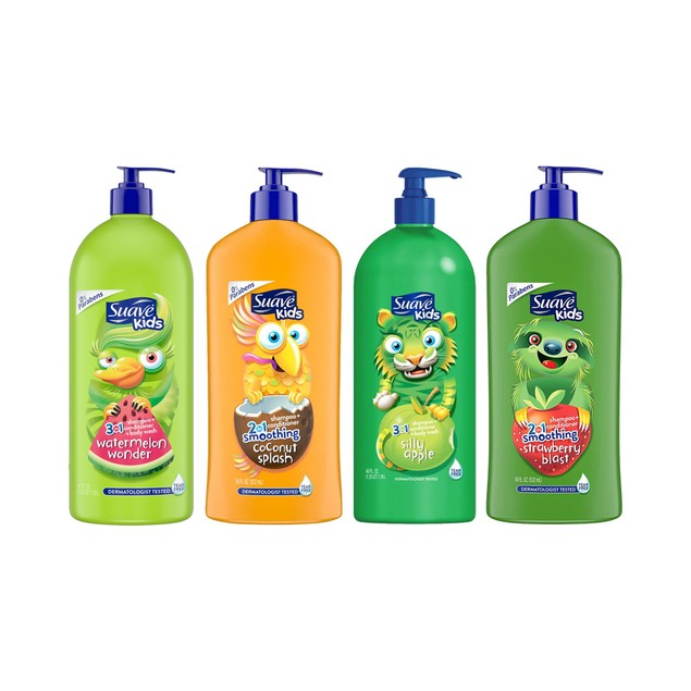 4-Pack Suave Kids Body Wash/Shampoo Set