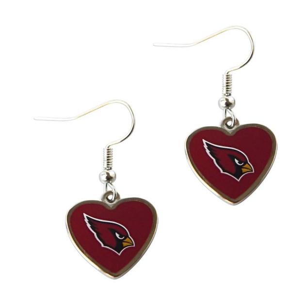 Sports Team Logo Non-Swirl Heart Shape Dangle Earring