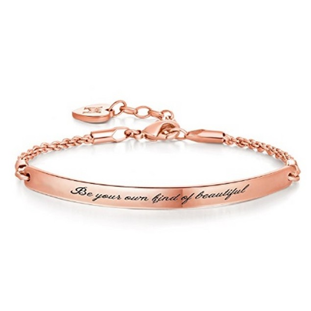 """""""Be Your Own Kind Of Beautiful"""" Rose Bracelet"""