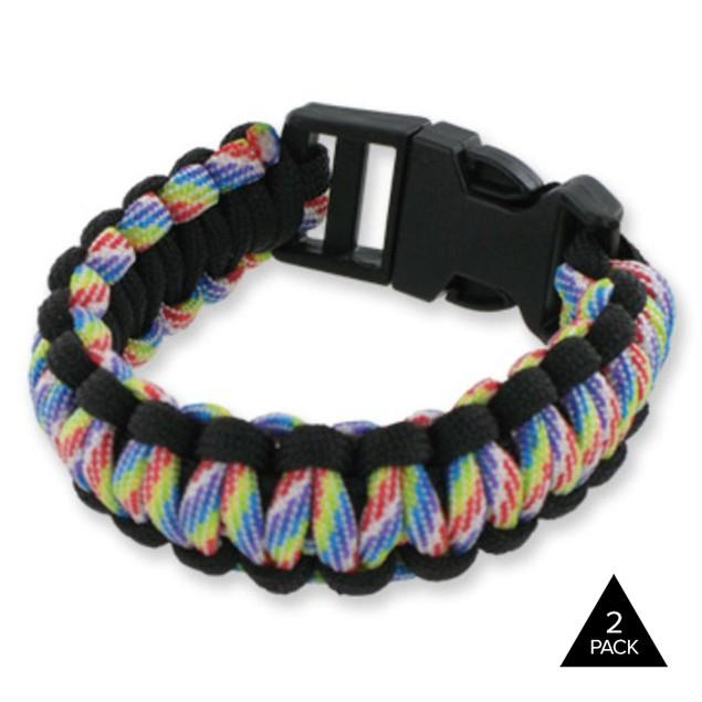 2-Pack Survival Parachute Bracelet