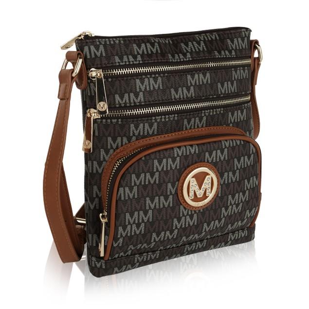 MKF Collection Iris M Signature Crossbody Bag by Mia K.