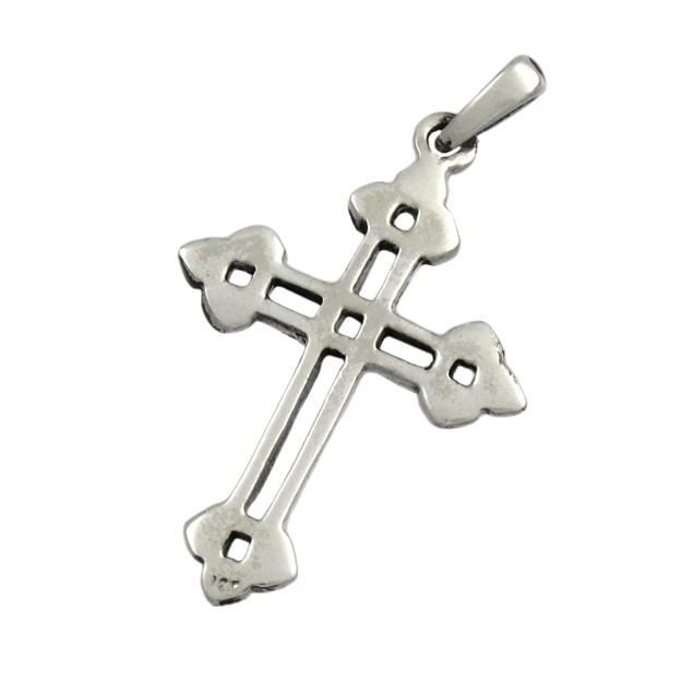 Sterling Silver Celtic Endless Knot Cross Pendant Womens Pendants