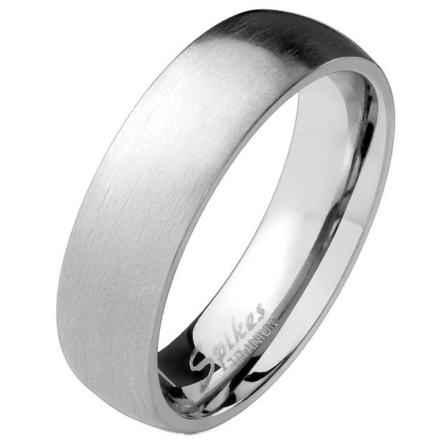 Classic 6mm Titanium Unisex Band Ring - 3 Styles