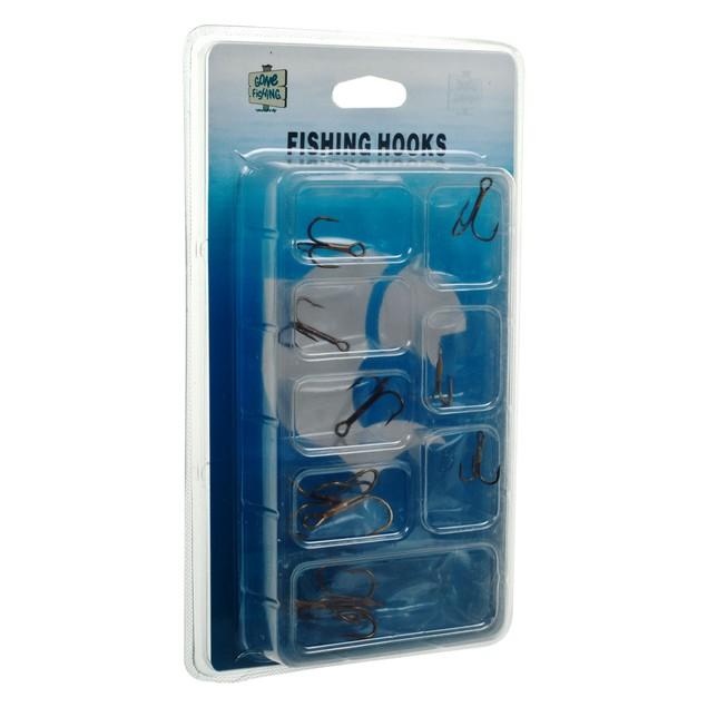 Gone Fishing Set of 10 Treble Hooks - Assorted Sizes