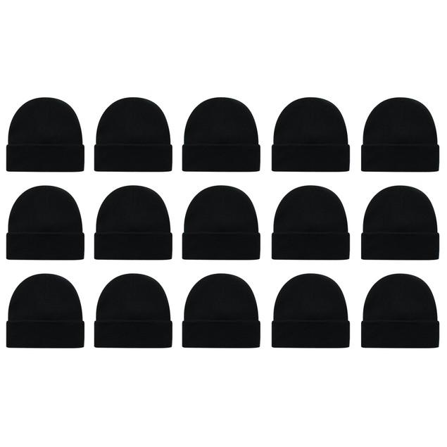 3-Pack Unisex Winter Knit Beanie Hat