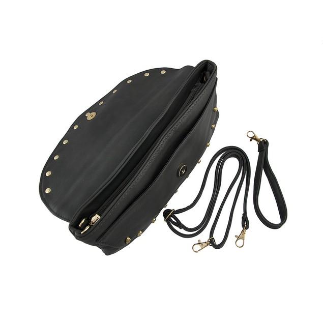 Gray Evening Clutch Bag With Goldtone Skull Beads Womens Evening Handbags