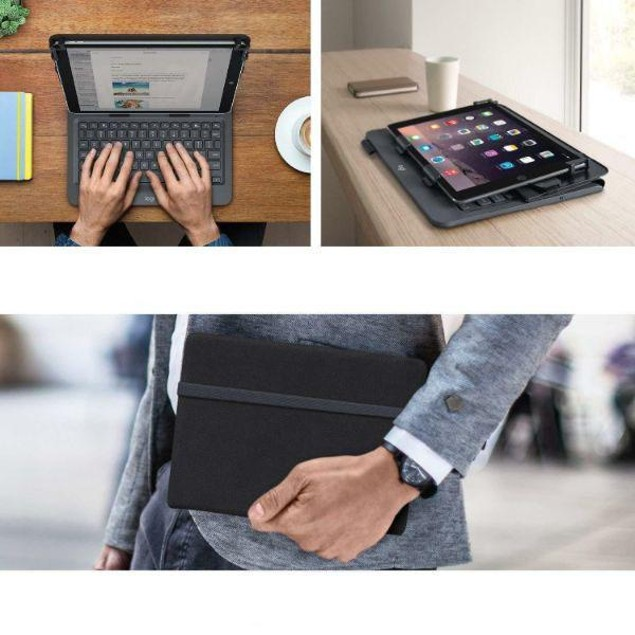 Logitech 920-008334 Universal Folio Integrated Bluetooth Tablet Keyboard