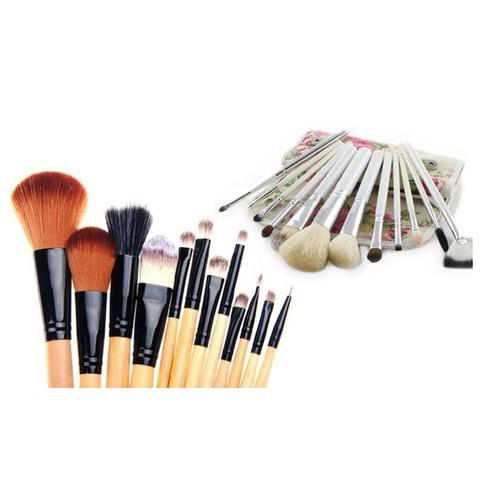 Makeup Brush Set with Case (12-Piece)