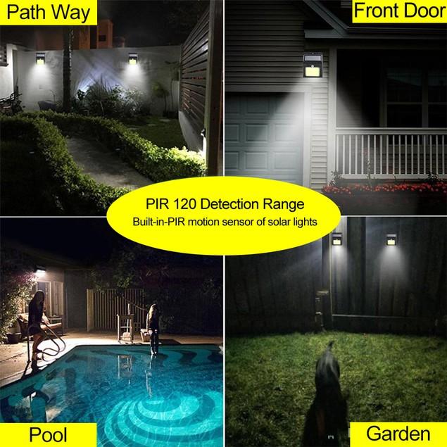 5-Pack Outdoor 48 LED Solar Light w/ Wireless IP65 Waterproof Motion Sensor