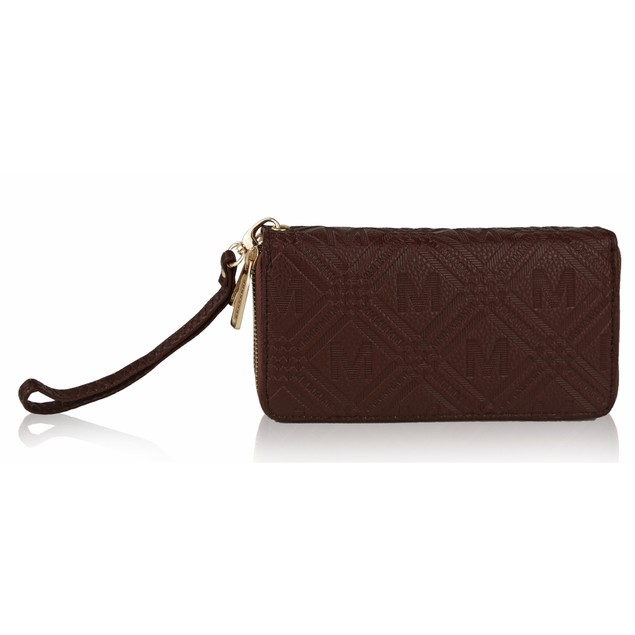 MKF Collection Embossed M Signature Wallet by Mia K.