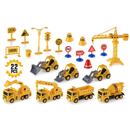 Construction Trucks Toy Set Toys for Kids Boys & Girls Age 3 Year Old & Up