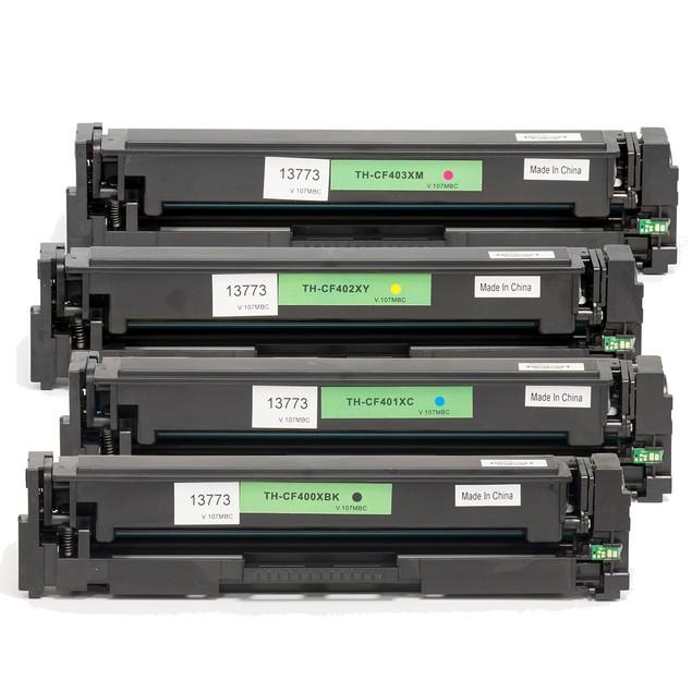 HP 201X/CF400XL Compatible Toner 4-Pack
