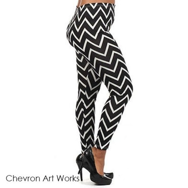 Chevron Art Works Leggings
