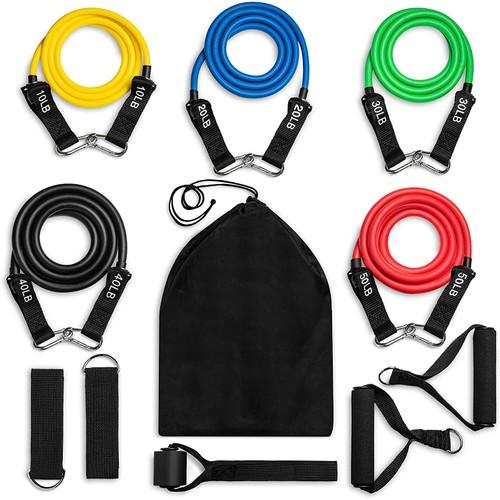 12-Piece ACECOM Exercise Resistance Bands Bundle