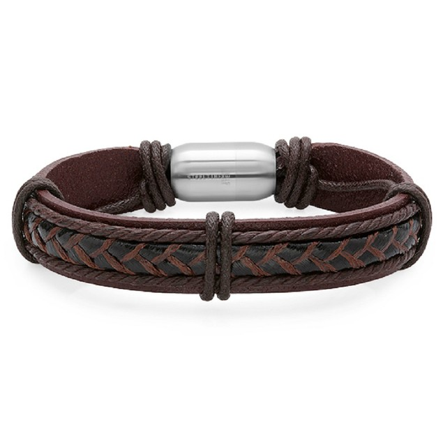 Leather Bracelet with magent clasp