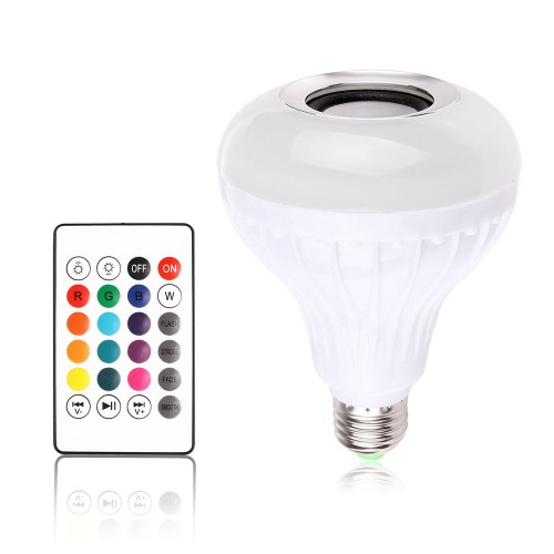 12W LED Light Bulb Wifi Bluetooth Speaker With Remote Control