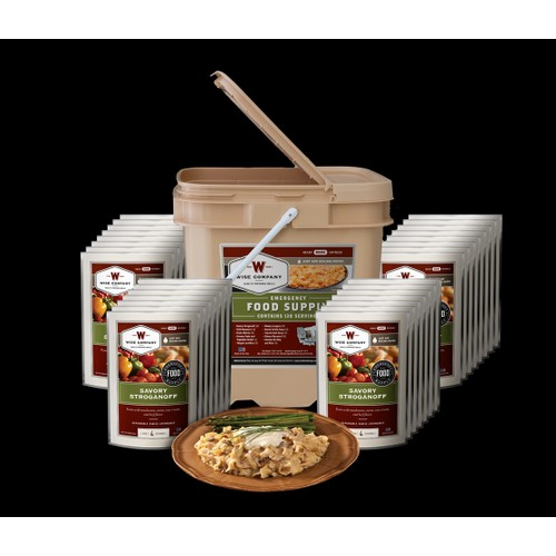 Wise Foods - 120 Serving Entrée Only Grab and Go Bucket