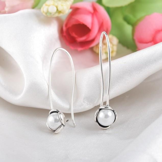 Pearl Drop Hook Earrings