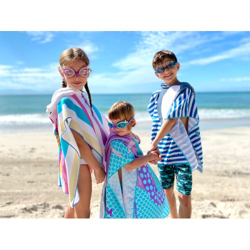 Fun in the Sun Hooded Towels for Kids by Juice Box- Assorted Styles
