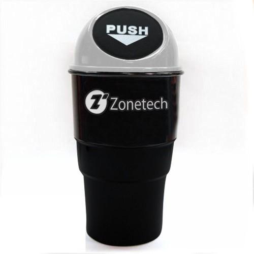 Zone Tech Black Gray Portable Mini Car Can Holder Litter Bin
