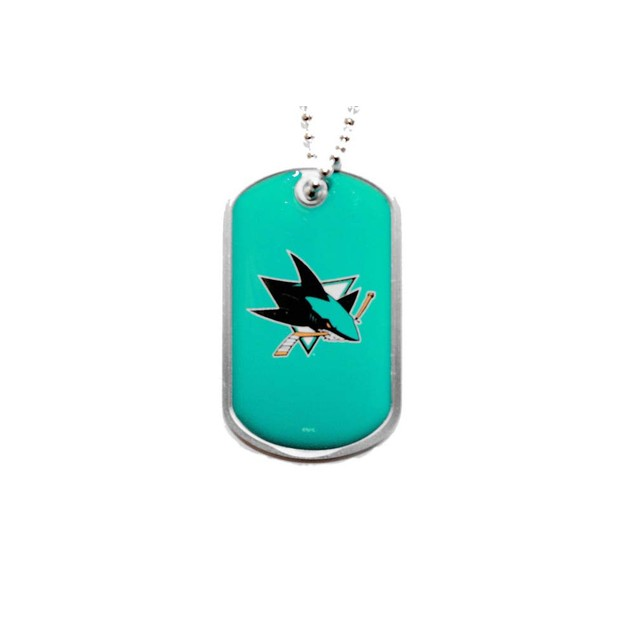 NHL Sports Team Dog Tag Domed Necklace Charm Chain