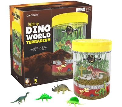 Light-up Dino World Terrarium Kit for Kids - Create Your Own Customized Mini Dinosaur Garden in a Jar That Glows at Night Was: $24.99 Now: $23.99.