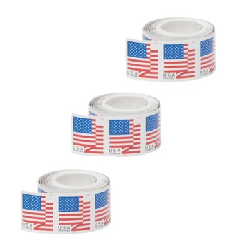 100-Pack USPS Forever Stamps (U.S. Flag or Patriotic Spiral Christmas)