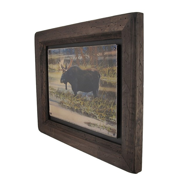Big Sky Carvers North American Moose Wood Frame Decorative Plaques