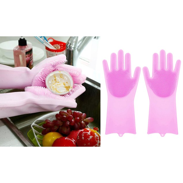 Magic Reusable Cleaning Scrubber Gloves