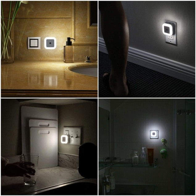12-Pack LED Plug-in Night Light