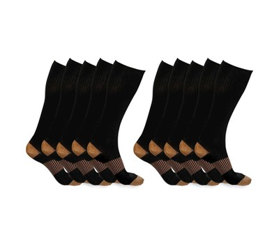 5-Pairs of xFit Copper-Infused Compression Socks Was: $89.99 Now: $16.99.