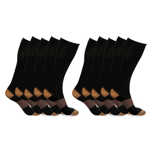5-Pairs of xFit Copper-Infused Compression Socks